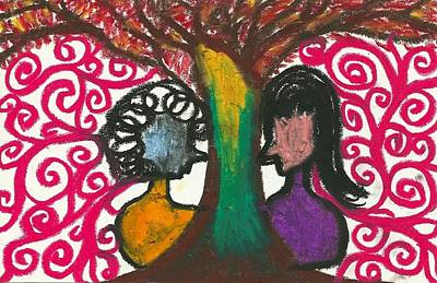 Love In The Tree's Explostion Art Print by Ivy T Flanders