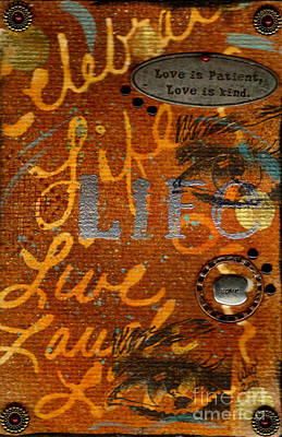 Mixed Media - Love Is Patient Love Is Kind by Angela L Walker