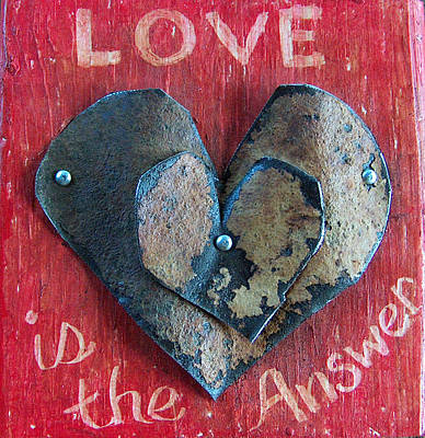 Mixed Media - Love Is The Answer by Racquel Morgan