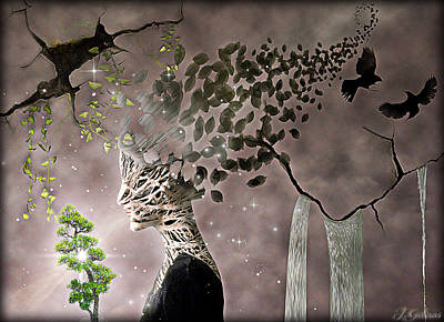 Tree Roots Digital Art - Love by Jennifer Gelinas