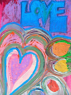 Painting - Love by Kat Kemm