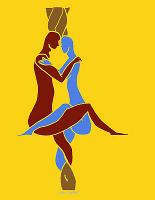 Digital Art - Love Knot by Donna Blackhall
