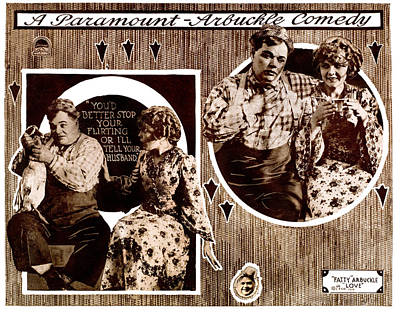 1910s Poster Art Photograph - Love, Left To Right Roscoe Fatty by Everett