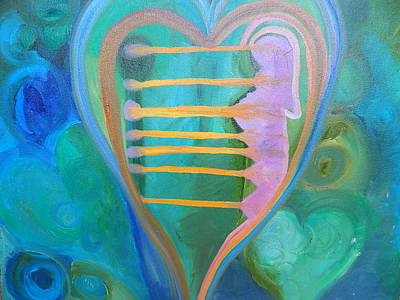 Painting - Love Magic - Sending Future Self Love by Kat Kemm