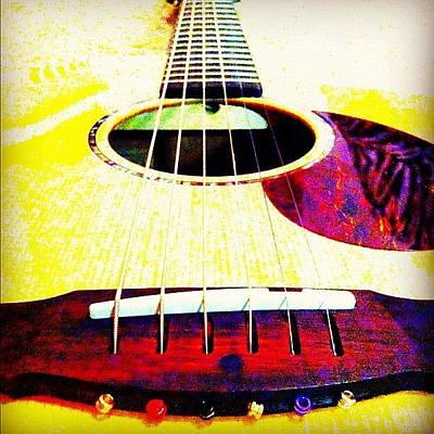 Guitar Wall Art - Photograph - Love My Breedlove :) #follow #igdaily by Hollyan Trainer