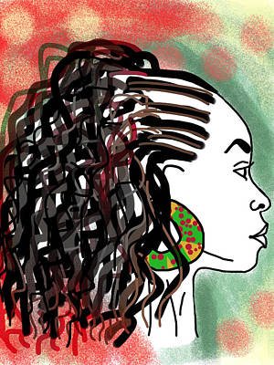 Love My Curls Art Print by Kudzai Max
