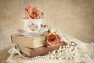 Photograph - Love Of Vintage Books by Cheryl Davis