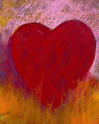 Heart Painting - Love On Fire by David Patterson