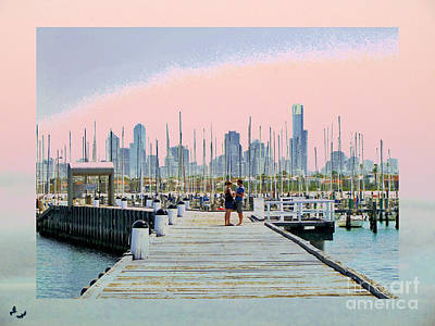 Photograph - Love On The Pier by Karen Lewis