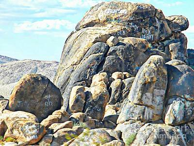 Mountins Photograph - Love On The Rocks by Michelle Frizzell-Thompson