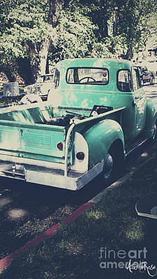 Love The Truck Art Print by Awildrose Photography