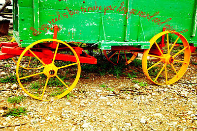 Hay Wagon Photograph - Love To Go Round by Toni Hopper