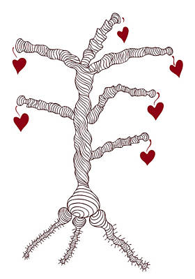 Love Tree Art Print by Frank Tschakert