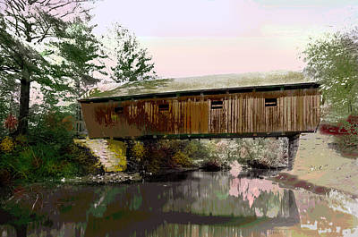 Lovejoy Covered Bridge Art Print by Charles Shoup