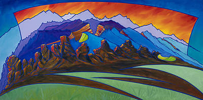 Painting - Loveland's Backbone by Alan Johnson