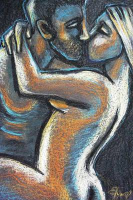 Lovers Painting - Lovers - Fatal Attraction by Carmen Tyrrell