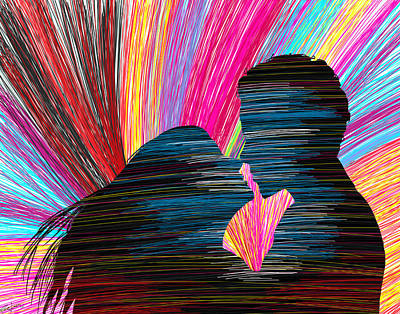 Lovers In Colour No.1 Art Print by Kenal Louis