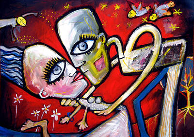 Painting - Lover's Kiss by Leanne Wilkes