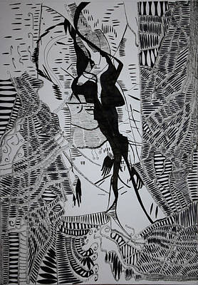 Drawing - Loves Tryst by Gloria Ssali