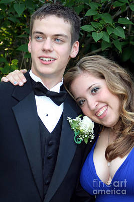 Photograph - Loving Prom Couple Portrait by Susan Stevenson