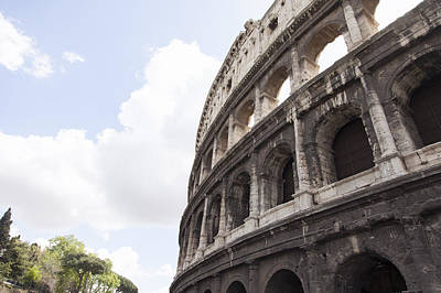 Y120831 Photograph - Low Angle View Of Coliseum In Rome by Stefanie Grewel