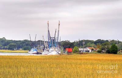 - Low County Marsh View Shrimp Boats by Scott Hansen