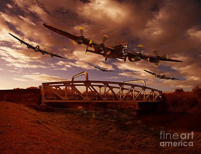 Digital Imaging Pyrography - Low Flying Over Rawcliffe Bridge by Nigel Hatton