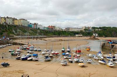 Photograph - Low Tide At Tenby by Tam Ryan