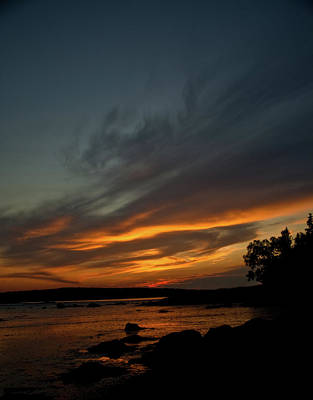 Photograph - Low Tide Sunset by Greg DeBeck