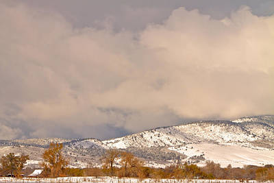 Low Winter Storm Clouds Colorado Rocky Mountain Foothills 4 Art Print by James BO  Insogna