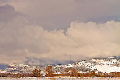 Photograph - Low Winter Storm Clouds Colorado Rocky Mountain Foothills 8 by James BO Insogna