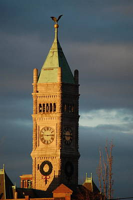 Photograph - Lowell Clock Tower by Mary McAvoy