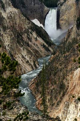 Art Print featuring the photograph Lower Falls And Yellowstone River by Living Color Photography Lorraine Lynch