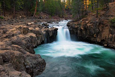 Lower Falls At Sunset Art Print