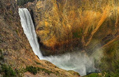 Photograph - Lower Falls Yellowstone National Park by Ken Smith