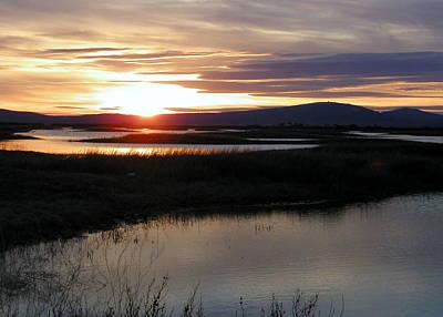 Digital Photograph - Lower Klamath Lake Sunset by Cindy Wright