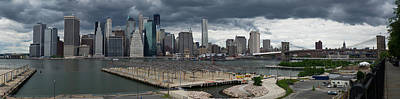 Photograph - Lower Manhattan From Brooklyn Panorama 2 by Gary Eason