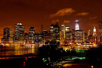 Photograph - Lower Manhattan From Brooklyn Promenade by Greg Norrell