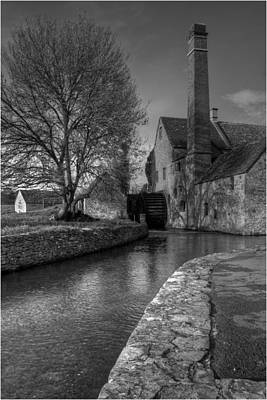Lower Slaughter Mill Art Print by Nigel Jones