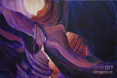 Painting - Lower Slot Canyon by LeRoy Jesfield