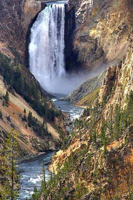 Yellowstone Wall Art - Photograph - Lower Yellowstone Falls by Brad Scott