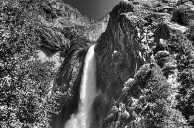 Lower Yosemite Falls Bw Art Print by Bruce Friedman