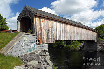 Maine Roads Photograph - Lowes Covered Bridge by Rick Mann