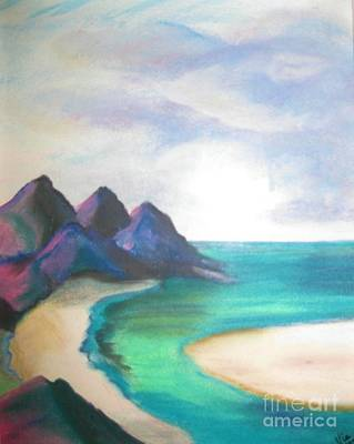 Pastel - Lowtide Carribean Pastel by Judy Via-Wolff