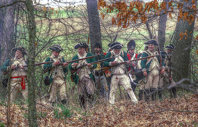 Loyalist Skirmishers Revolutionary War   Art Print by Randy Steele