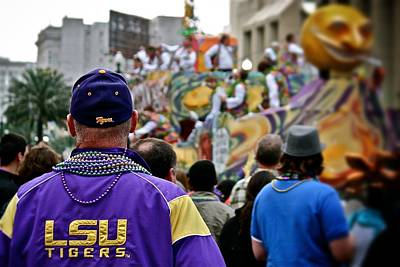 Print featuring the photograph Lsu Mardi Gras  by Jim Albritton
