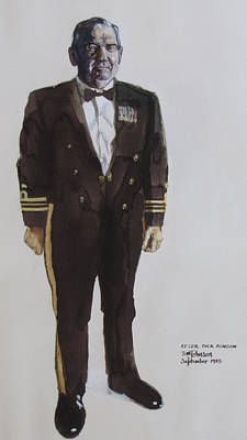 Painting - Lt Cdr Dick Benson by Tim Johnson