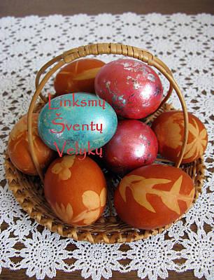 Photograph - Lt Merry Holy Easter. Lithuanian Greeting by Ausra Huntington nee Paulauskaite