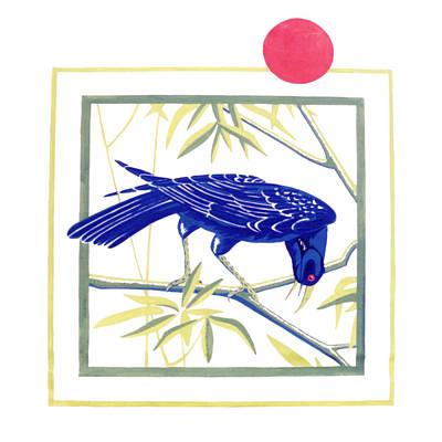 Lubenham Crow Art Print by Al Cazu Alan Williamson
