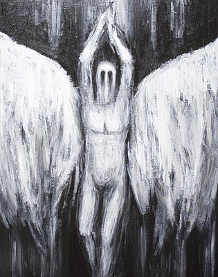 Portrait Of Evil Painting - Lucifer The Morning Star  Descending To The Abyss by Kazuya Akimoto